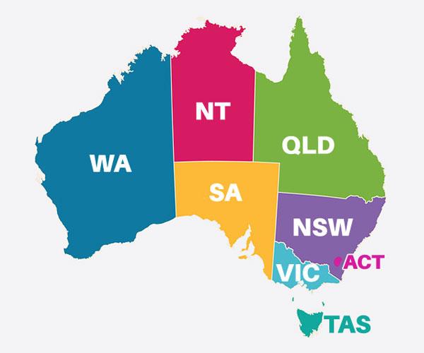 オーストラリア 地図